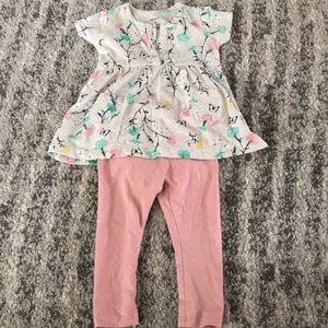 4for$10 Baby Girl 3 monthFloral Pink Pants Outfit